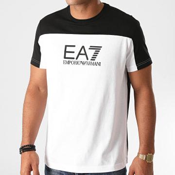 EA7 - Tee Shirt 6HPT52-PJT3Z Noir Blanc