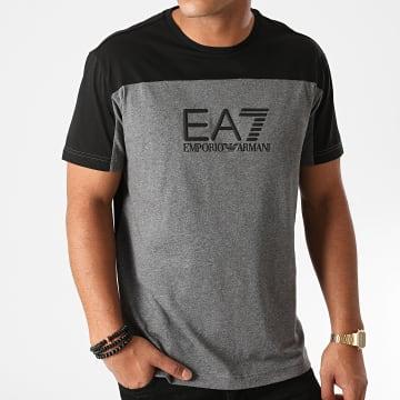 EA7 - Tee Shirt 6HPT52-PJT3Z Gris Anthracite Chiné Noir