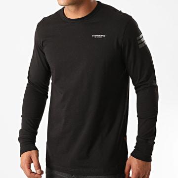 G-Star - Tee Shirt Manches Longues Base R D17684-336 Noir