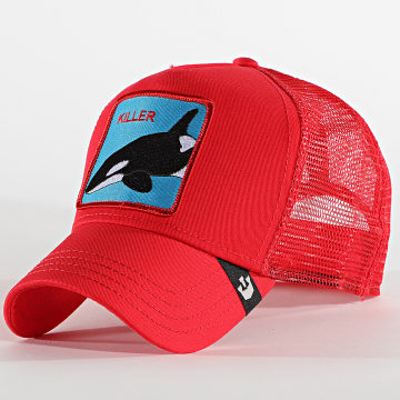 Goorin Bros - Casquette Trucker Killer Whale Rouge