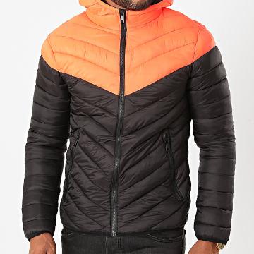 MTX - Doudoune Capuche 206 Noir Orange