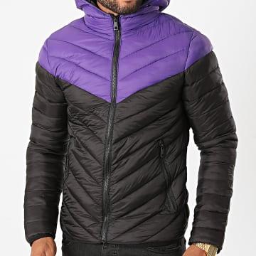 MTX - Doudoune Capuche 206 Noir Violet