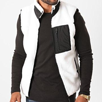 MTX - Veste Sans Manches Zippée Fourrure 241 Blanc