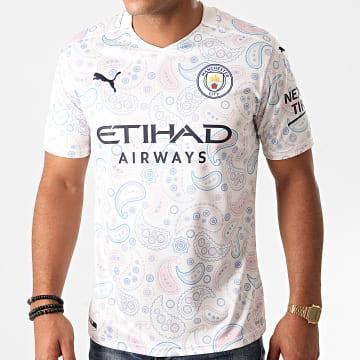 Puma - Tee Shirt De Sport Manchester City FC Thrid Replica 757095 Blanc Bandana