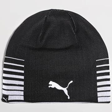 Puma - Bonnet Réversible Liga Noir Blanc
