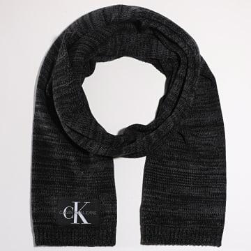 Calvin Klein - Echarpe Mono 6247 Noir Chiné