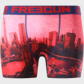 Freegun - Boxer Print City Rouge