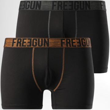 Freegun - Lot De 2 Boxers Signature Noir