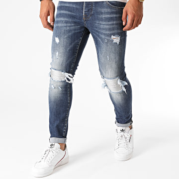 GRJ Denim - Jean Slim 2016 Bleu Denim Argenté