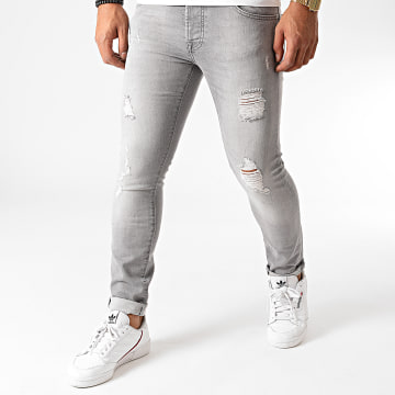 GRJ Denim - Jean Slim 2027-2 Gris