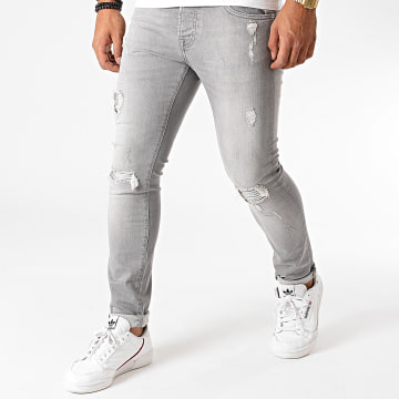 GRJ Denim - Jean Slim 2027 Gris
