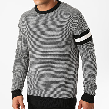 Guess - Pull A Rayures MOBR59-Z2PNO Noir Blanc