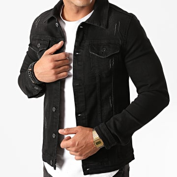 Mackten - Veste Jean 762 Noir