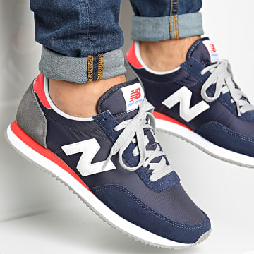 New Balance - Baskets Classics 720 818541 Navy Red