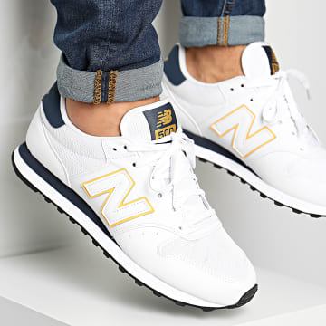 New Balance - Baskets Lifestyle 500 831421 White Blue Yellow