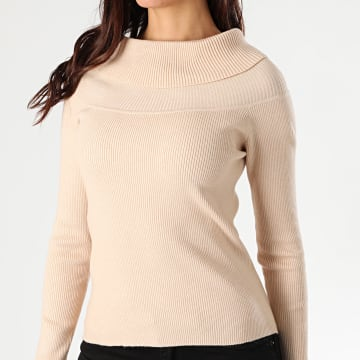 Girls Only - Pull Femme Col Amplified 55285 Beige