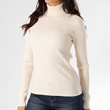 Girls Only - Pull Col Roulé Femme 55472 Beige