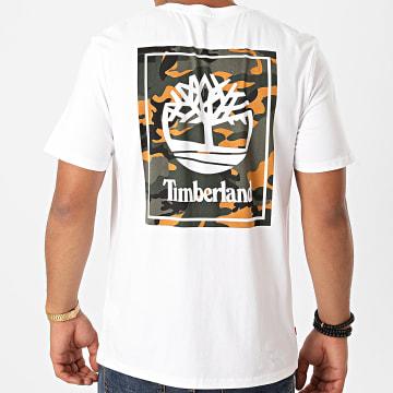 Timberland - Tee Shirt Back Logo Camo A2AFV Blanc