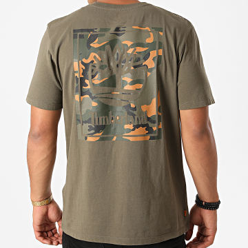 Timberland - Tee Shirt Back Logo Camo A2AFV Vert Kaki Camouflage