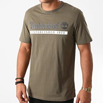 Timberland - Tee Shirt Established 1973 A2BV6 Vert Kaki