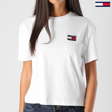Tommy Jeans - Tee Shirt Femme Tommy Badge 6813 Blanc