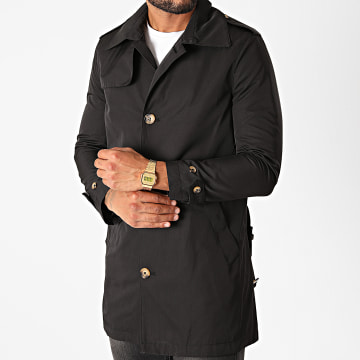 Uniplay - Manteau Trench 4009 Noir
