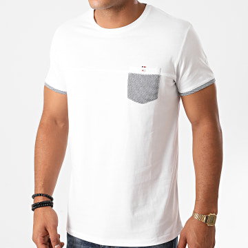Benson And Cherry - Tee Shirt Poche Tadashi Blanc