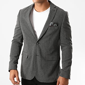 Benson And Cherry - Veste Blazer Ralph Gris Anthracite Chiné
