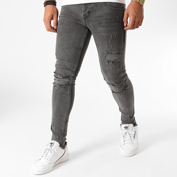 Black Needle - Jean Slim 3042 Gris