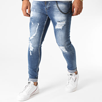 Black Needle - Jean Skinny 3205 Bleu Denim