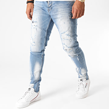 Black Needle - Jean Slim 3224 Bleu Wash