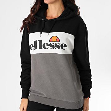 Ellesse - Sweat Capuche Femme Lassandra SGG10886 Gris Anthracite Blanc Noir