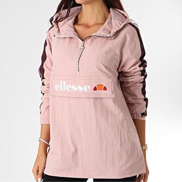Ellesse - Veste Outdoor Capuche Femme A Bandes Tonvilli SGG06530 Rose