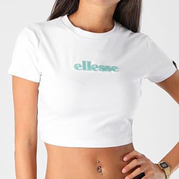 Ellesse - Tee Shirt Crop Femme Siderea SGG09623 Blanc