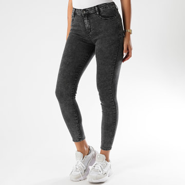 Girls Only - Jean Skinny Femme 661-5 Gris Anthracite Chiné