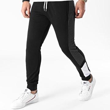 LBO - Pantalon Jogging Tricolore 1337 Noir Gris Blanc