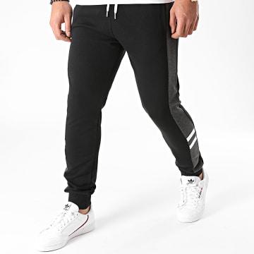 LBO - Pantalon Jogging Tricolore 1336 Noir Gris Blanc