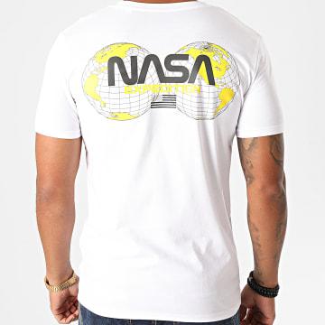 NASA - Tee Shirt Expedition Back Blanc Jaune
