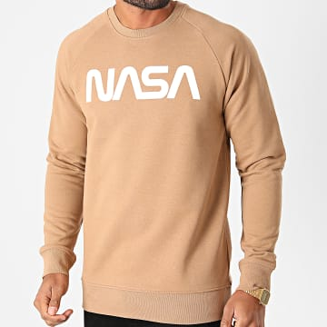NASA - Sweat Crewneck Worm Logo Camel