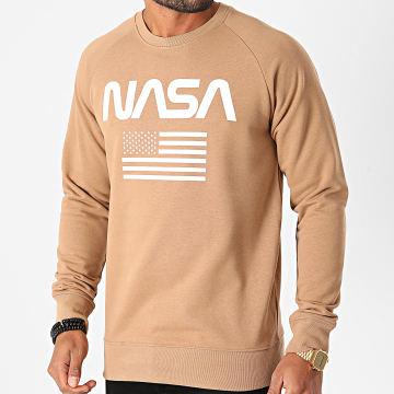 NASA - Sweat Crewneck Flag Camel