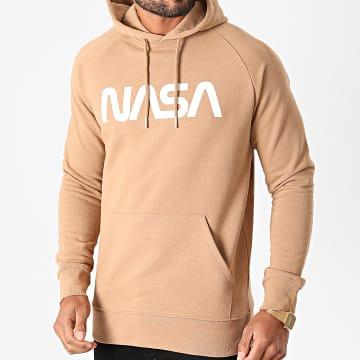 NASA - Sweat Capuche Worm Logo Camel