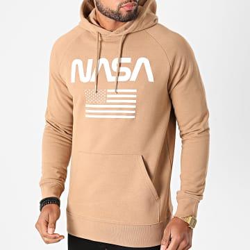 NASA - Sweat Capuche Flag Camel