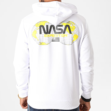 NASA - Sweat Capuche Expedition Back Blanc