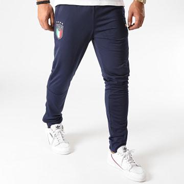 Puma - Pantalon Jogging FIGC 757352 Bleu Marine Doré