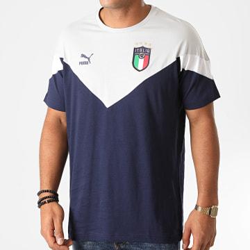 Puma - Tee Shirt FIGC Iconic MCS 756660 Bleu Marine Gris