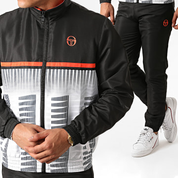 Sergio Tacchini - Ensemble De Survêtement Baron 38869 Noir Blanc Orange