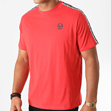 Sergio Tacchini - Tee Shirt A Bandes Barbados 38841 Rouge