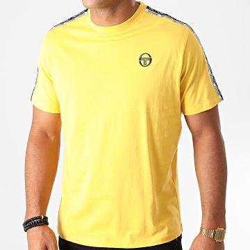 Sergio Tacchini - Tee Shirt A Bandes Barbados 38841 Jaune