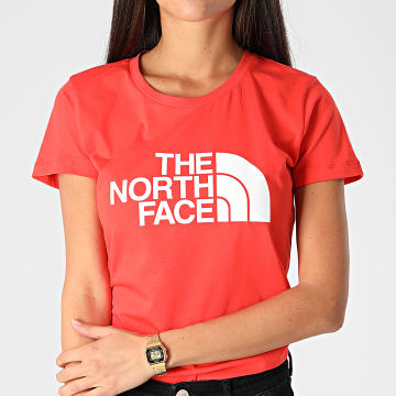 The North Face - Tee Shirt Femme Easy 56R1 Orange Foncé