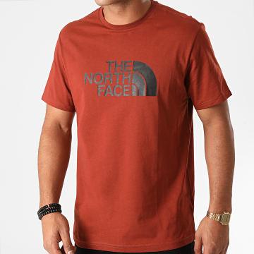 The North Face - Tee Shirt Easy TX3U Marron Brique